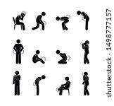 pictogram body ache pain  stick ... | Shutterstock .eps vector #1498777157
