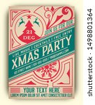 Christmas Party Flyer Retro...