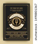 vintage music party with... | Shutterstock .eps vector #1498801367