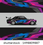 car wrap  decal  vinyl sticker... | Shutterstock .eps vector #1498809887