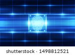 fingerprint integrated in a... | Shutterstock .eps vector #1498812521