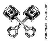 crossed motorcycle pistons....   Shutterstock .eps vector #1498812584