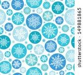 Round Snowflakes Seamless...