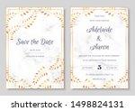 wedding invitation collection...   Shutterstock .eps vector #1498824131