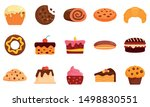 confectionery icons set. flat...   Shutterstock .eps vector #1498830551