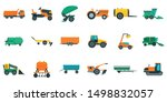 Agricultural Machines Icons Set....