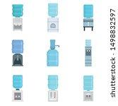 cooler water icon set. flat set ... | Shutterstock .eps vector #1498832597