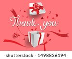 text of thank you in hand... | Shutterstock .eps vector #1498836194
