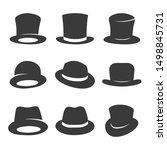 set of gentleman hats. vector... | Shutterstock .eps vector #1498845731