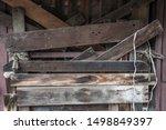Old Wooden Door Barred Shut...