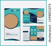 medical trifold brochure design ... | Shutterstock . vector #1498851074
