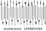set of simple monochrome vector ... | Shutterstock .eps vector #1498854284