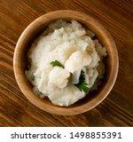 homemade cauliflower puree in... | Shutterstock . vector #1498855391