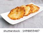 potato pancakes  draniki ...   Shutterstock . vector #1498855487