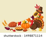 happy thanksgiving day greeting ... | Shutterstock .eps vector #1498871114