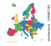 map of europe from triangles  ... | Shutterstock .eps vector #149887181