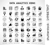 web analytic icons set  data... | Shutterstock .eps vector #149887847