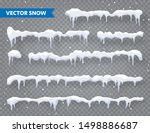 snow  ice cap with shadow set.... | Shutterstock .eps vector #1498886687