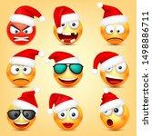 emoticon vector set. yellow...   Shutterstock .eps vector #1498886711
