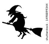Witch Character Silhouette....