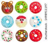 Set Of Christmas Donuts...