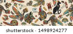 ancient egypt seamless pattern. ... | Shutterstock .eps vector #1498924277
