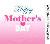 graphics card mother's day with ... | Shutterstock .eps vector #149893025