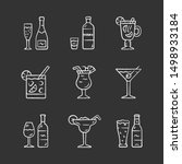 drinks chalk icons set. alcohol ... | Shutterstock .eps vector #1498933184