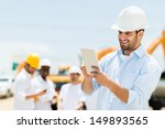 male engineer at a construction ... | Shutterstock . vector #149893565