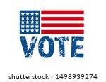 vote 2020 in usa  banner design.... | Shutterstock .eps vector #1498939274