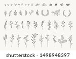 set of elegant floral elements... | Shutterstock .eps vector #1498948397