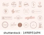 set of vintage labels and... | Shutterstock .eps vector #1498951694