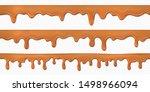 seamless caramel drips.... | Shutterstock .eps vector #1498966094