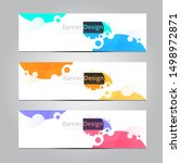 abstract banner design template ... | Shutterstock .eps vector #1498972871
