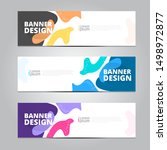 abstract banner design template ... | Shutterstock .eps vector #1498972877