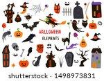 set of isolated halloween...