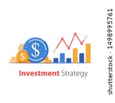 revenue increase  high interest ... | Shutterstock .eps vector #1498995761