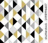 vector geometric seamless...   Shutterstock .eps vector #1498996607