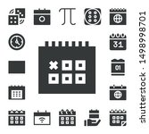 number icon set. 17 filled number icons.  Collection Of - Dices, Clock, Calendar, Pi, Dice