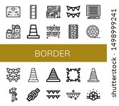 set of border icons such as... | Shutterstock .eps vector #1498999241