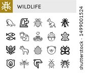 set of wildlife icons such as... | Shutterstock .eps vector #1499001524