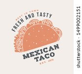 hot and fresh mexican taco... | Shutterstock .eps vector #1499002151