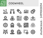 set of cogwheel icons such as... | Shutterstock .eps vector #1499003054
