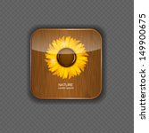 Flower Wood Application Icons...