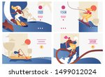 vector concept banners set with ... | Shutterstock .eps vector #1499012024