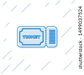 blue line ticket icon isolated... | Shutterstock .eps vector #1499037524