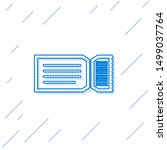 blue line ticket icon isolated... | Shutterstock .eps vector #1499037764