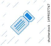 blue line ticket icon isolated... | Shutterstock .eps vector #1499037767