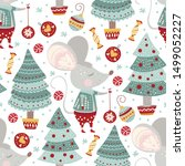 seamless vector pattern with... | Shutterstock .eps vector #1499052227