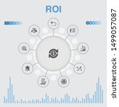 roi infographic with icons....